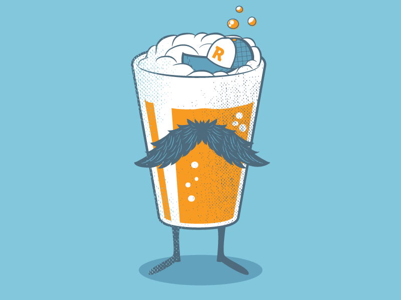 Beer Self Portrait vector illustration self portrait beer