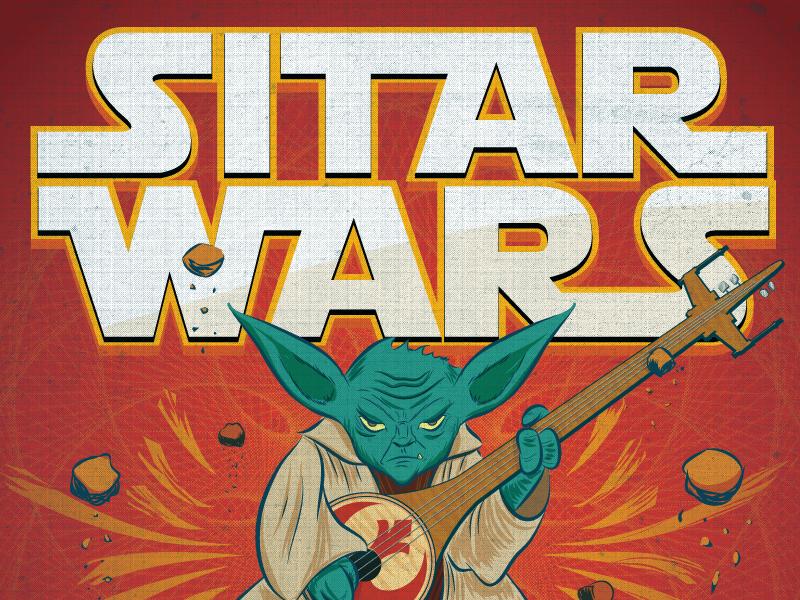 Yoda yoda sitar star wars illustration