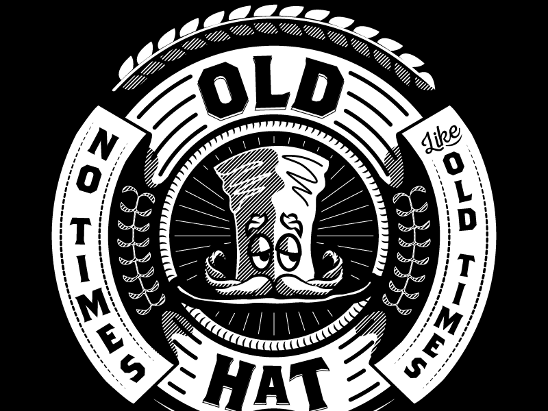 Old Hat 90s badge roundel seal comic