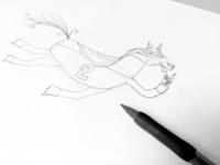 Horsey sketch