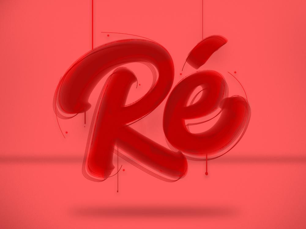 Re lettering challenge illustration typography lettering