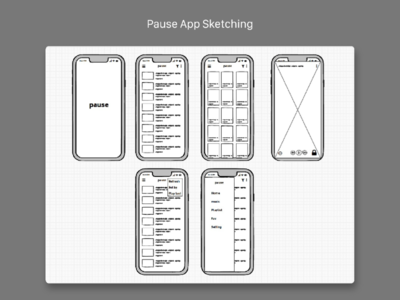 Pause app sketch