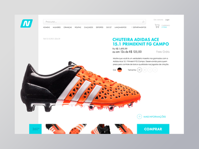 #012 #DailyUI EcommerceShop Single Item netshoes futebol football sports single item shop e-commerce dailyui 012