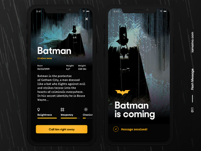 Daily UI #011 - Flash Message (Success) app branding sos hero superhero batman comics success message flash message visual design user interface design dailyui ux ui