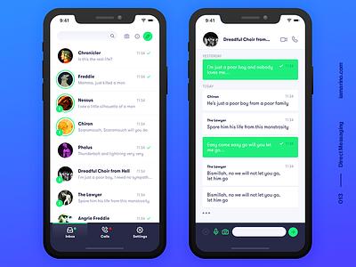 Daily UI #013 - Direct Messaging messager direct messaging whatsapp app design interface visual design user interface design design ux ui