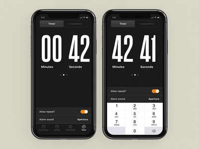 Daily UI #014 - Countdown Timer countdowntimer countdown timer alarm app interface dailyui typography visual design ux user interface design design ui