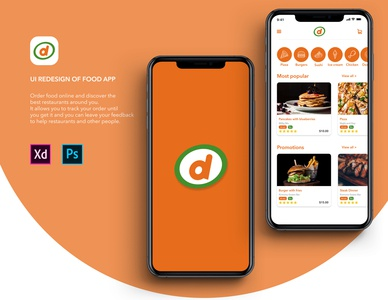Ui Redesign of Food Application