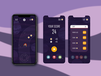 "UI Design for ""SPACESHEEP"" mobile game"