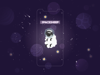 """SPACESHEEP"" mobile game illustration"