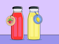Homemade Strawberry - Lemon Juice Illustration