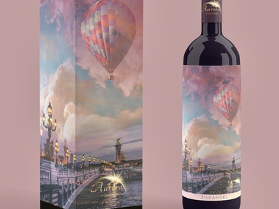 Balloon Wine Label Mockup