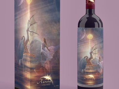 Dragon Wine Label Mockup