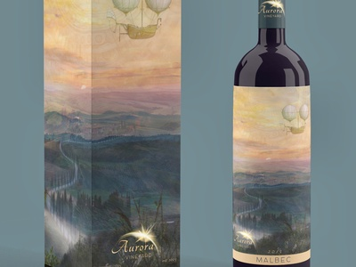 Tuscan Steampunk Wine Label Mockup