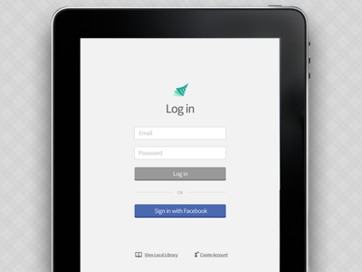 Tablet Native App Login