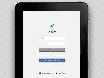 Tablet Native App Login ipad native app ios login textbook