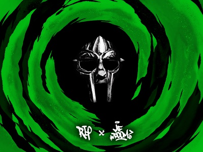 The Legend all caps danger doom rapper rap rip villian mf doom mfdoom mask green vortex design 2020