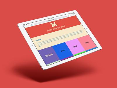 MaxxCrawford.com XVI Redesign mockup responsive rwd website