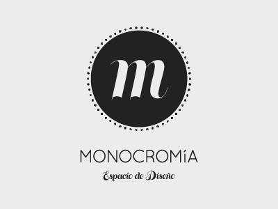Logo monocromia logo design identity illustrator font type