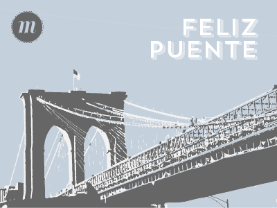 Feliz Puente illustration typography pantone