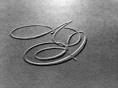 Monograma AI wedding monogram emboss print invitation
