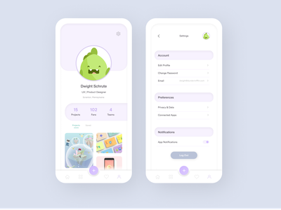Daily UI 006-007 :: Profile & Settings mobileapp dailyui007 dailyui006 illustration figma dailyui animation web ux @dailyui ui design app