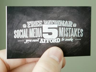(Business) Card business card webinar handout