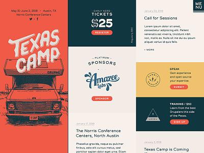Texas Camp Home css grid react drupal landing web layout website home ux ui interface web design