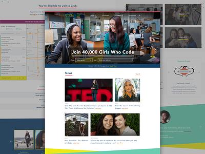 Girls Who Code ui ux web design ui design ux design branding