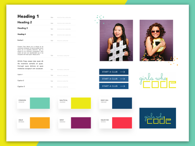 Girls Who Code Style Guide ux ui style guide