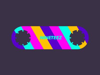 nineteez skateboard colors nineties t-shirt