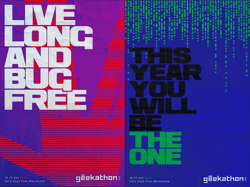 Rebound Geekathon poster typography vector blue hackathon constest programing developer geeks star trek geek