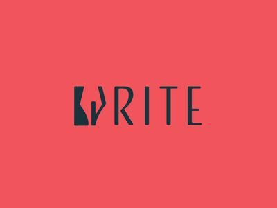 Write - Quick logo exercises illustration design vector classic pen logo