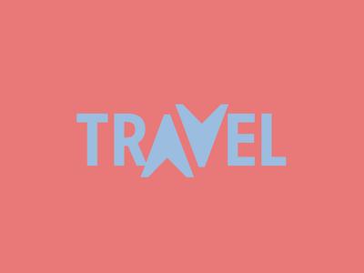 Travel - Quick logo exercises speed design logo 2d typography branding logo