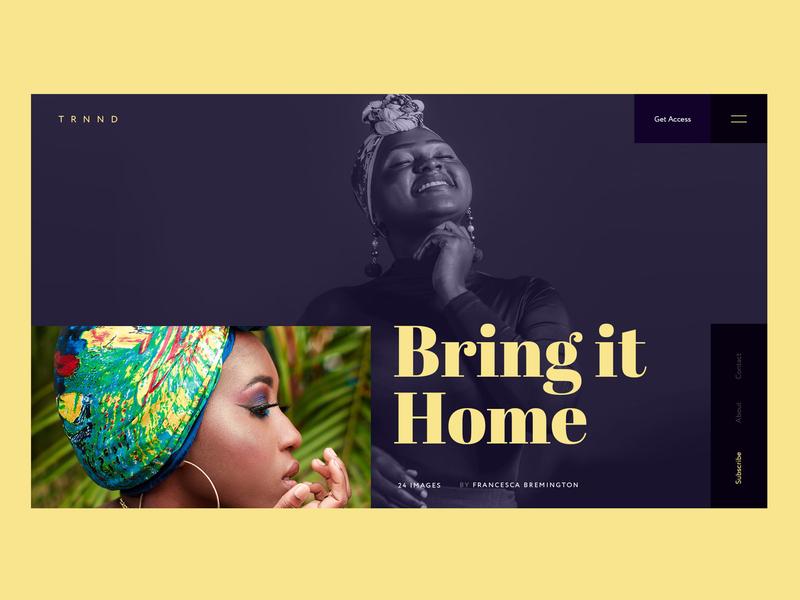Bring It Home landingpage fashion brand fashion