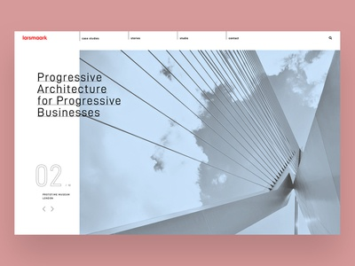 Larsmaark architecture web minimalist architecture landingpage webdesign website