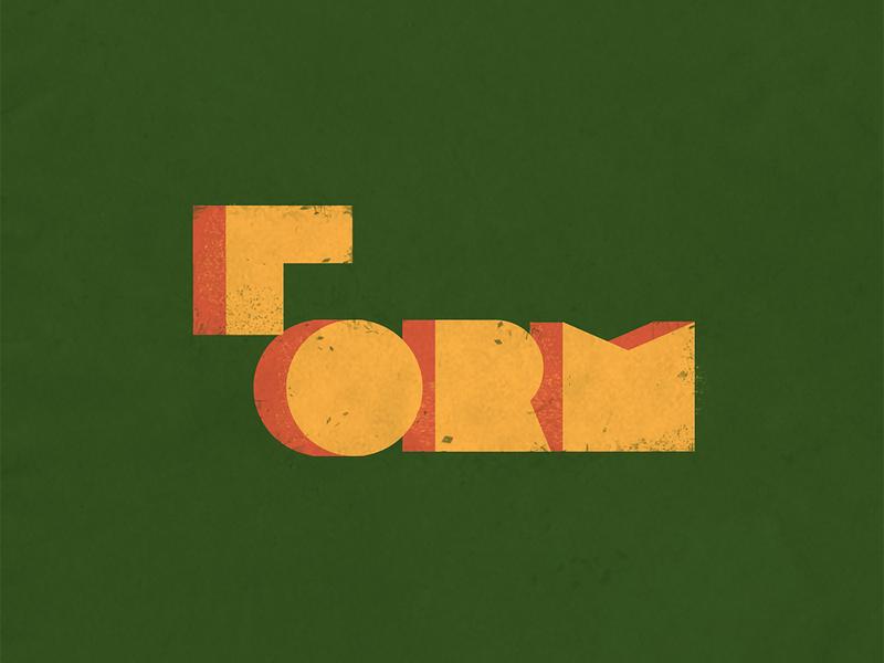 FORM clever minimalist illustration typography minimal brand identity shapes form idenity logo-designer logo