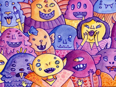 Fancy Dress Party traditional art watercolor illustration