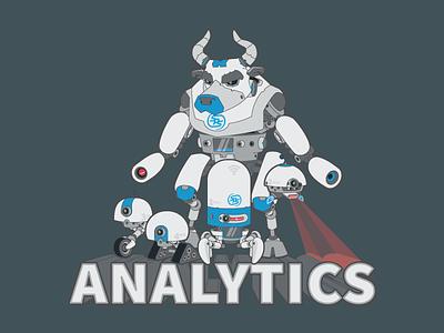 Analytics Team Member Shirt robots vector shirt
