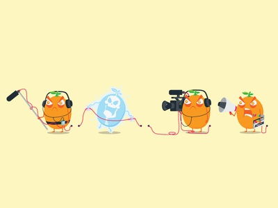 Grumpquat M&E Crew mascot illustrator illustration vector