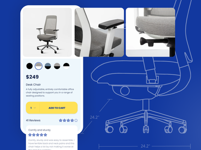 Mobile UI - New Home Office Chair retail mobile desk chair shopping app shop mobile app design mobile design mobile ui