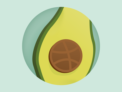 First Shot first shot avocado food flat icon vector illustration