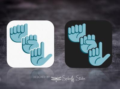 ASL App Icon app ui app ux app icon design app icon asl