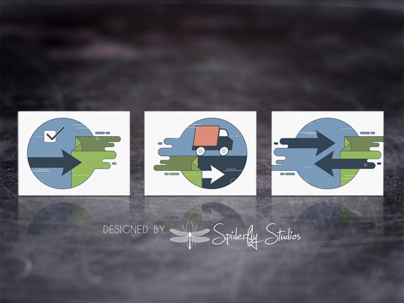 BOL Shopify Sync - Key Feature Graphics illustration design graphic design branding