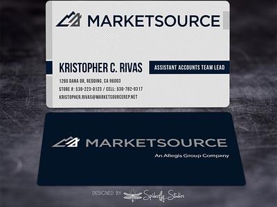 MarketSource Business Cards business card design business card design print design graphic design branding