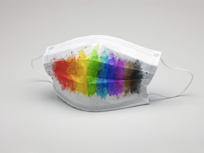 Watercolor LGBTQ Pride Face Mask pride gay pride print design graphic design apparel apparel design lgbtq lgbt gay face mask facemask watercolor