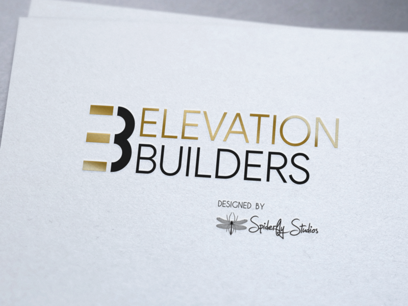 Elevation Builders Logo Design typography logo design logo design graphic design branding