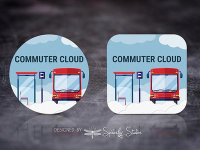 Commuter Cloud - Launcher Icon app icon design app ui app ux graphic design app design launcher icon icon design icon app icon