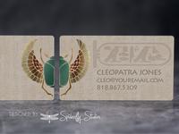 Egyptian Themed Business Card