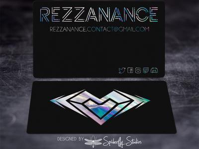 Rezzanance - Raised Holographic Foil Business Cards