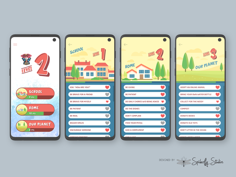 Pika Bunny Kindness Tracker - App Design app design app ui app ux graphic design